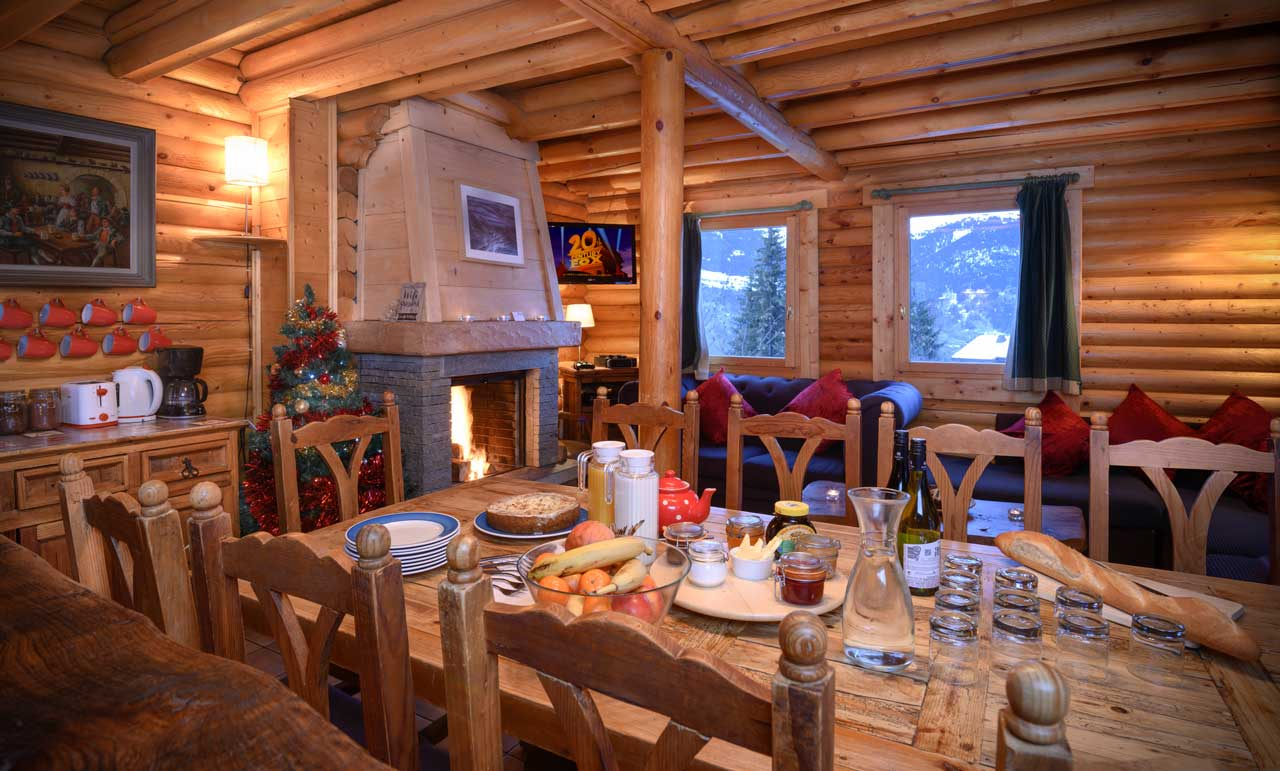 Chalet Baikal dining room from The Freeride Republic catered ski chalets