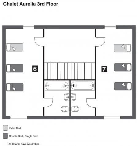 Chalet Aurelia floorplan from The Freeride Republic