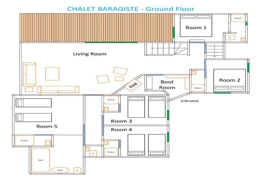 Chalet Barragiste floorplan from The Freeride Republic
