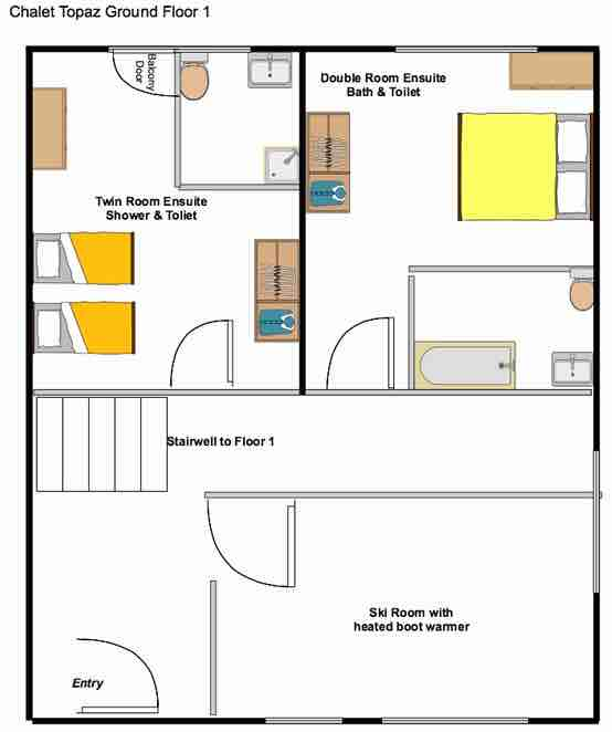 Chalet Topaz floorplan from The Freeride Republic