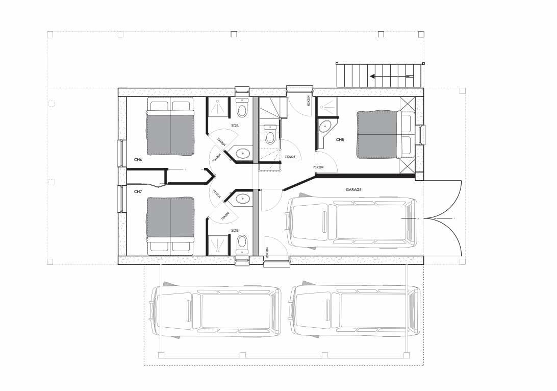 Cote Coeur Foorplan-internal-RDC