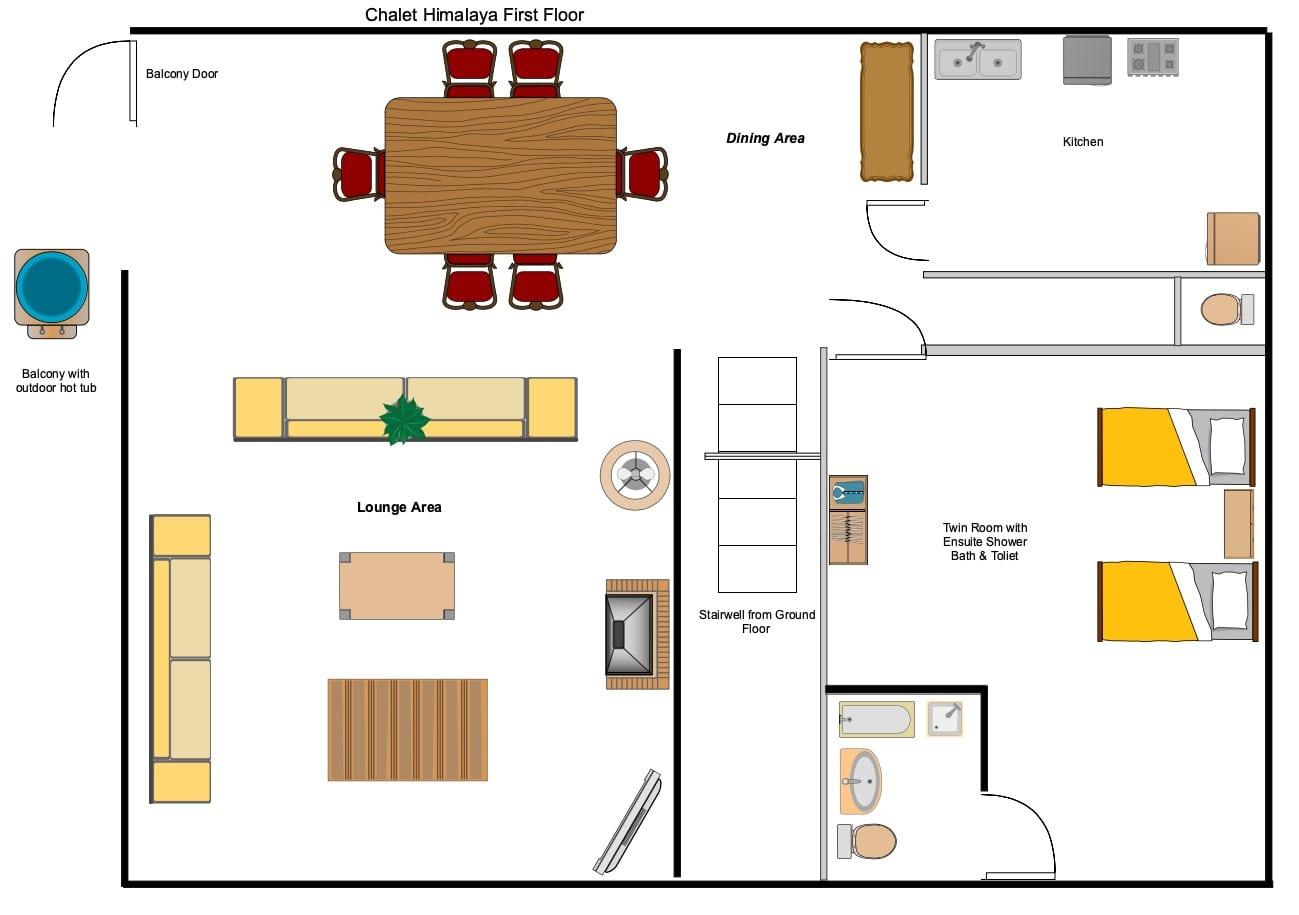 Chalet Himalaya - First Floor Floorplan