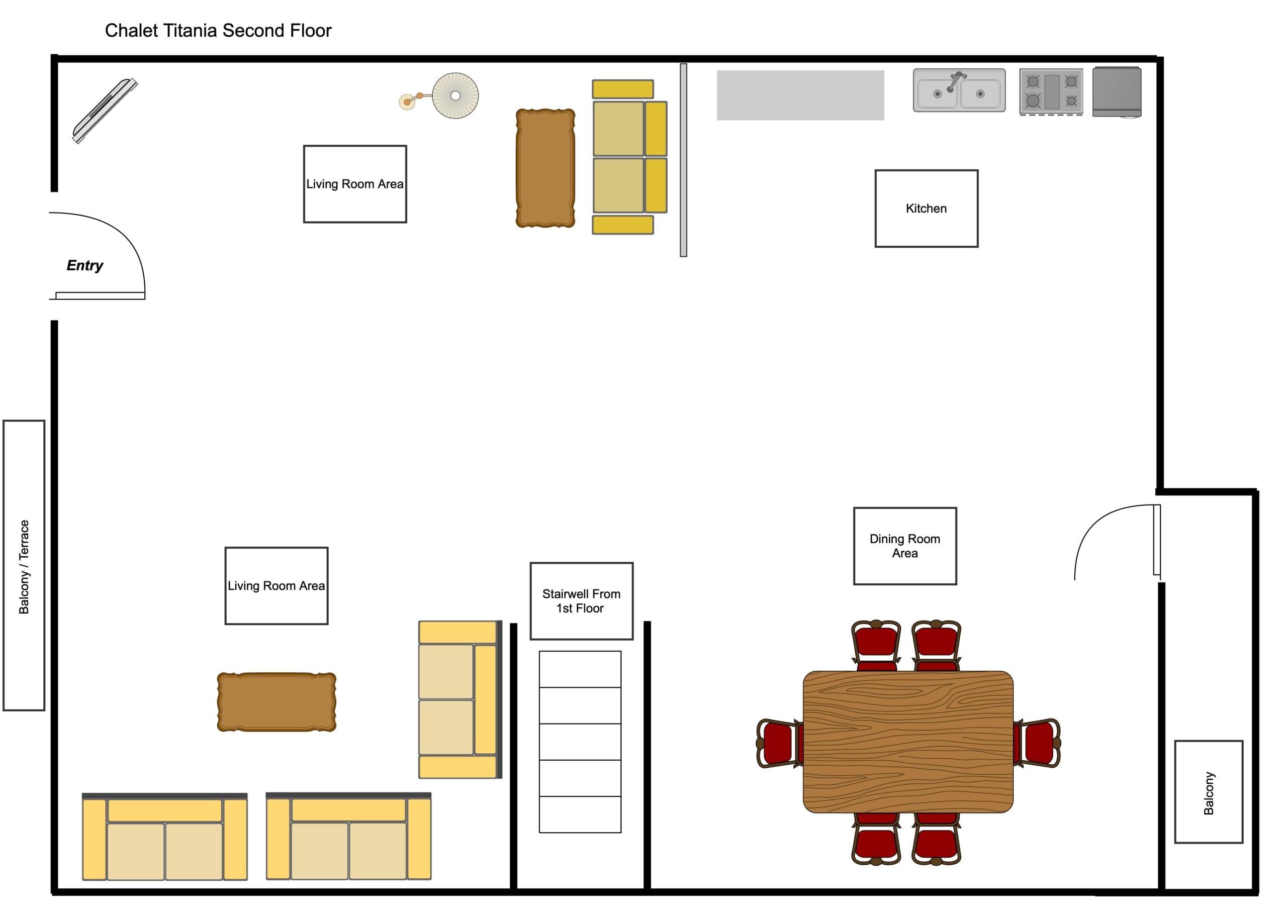 Chalet Titania - Second Floor Floorplan